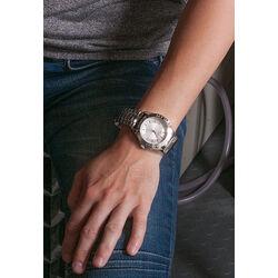 Stalen horloge witte wijzerplaat MY iMenso