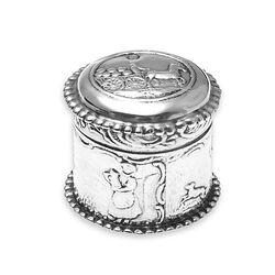 rond zilver doosje