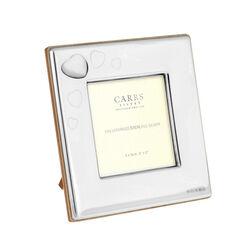 Zilveren fotolijst hartje parelmoer