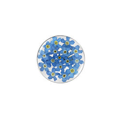 MY iMenso 24 mm Flora insignia met blauwe kleine bloemetjes 24-1177