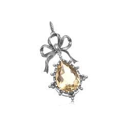 Zilveren hanger met citroen quartz markasiet