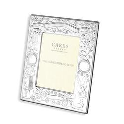 Zilveren geboorte fotolijst van Carrs