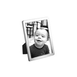 Zilver fotolijstje glad 9 x 6 cm