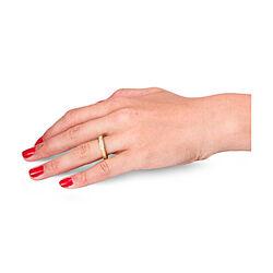 occasion geelgouden ring met 7 prinses geslepen diamanten