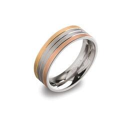 Titanium ring tricolor Boccia 0135-03