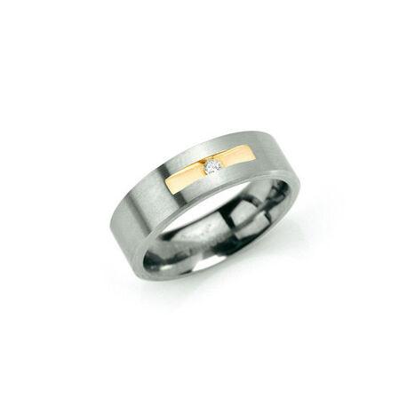 Boccia Titanium ring Briljant 0101-08