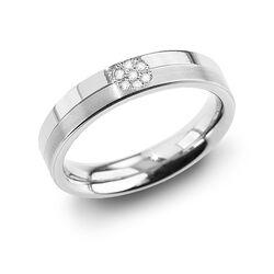 Boccia titanium ring met briljant