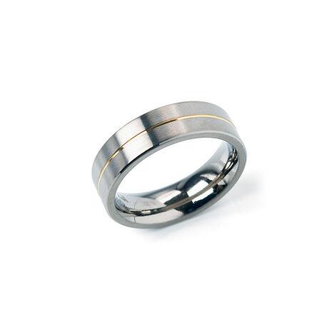 Boccia Titanium Ring Gouden Lijn 0101-21
