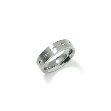 Titanium ring met briljant boccia