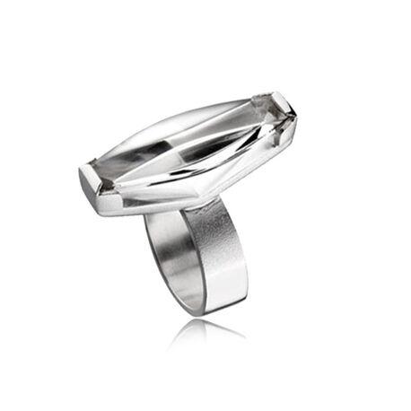 Lapponia ring met bergkristal Luminoso 650777