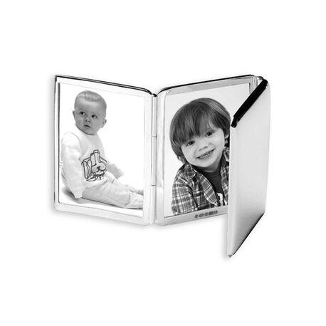 opvouwbare zilveren fotolijst 3 foto's