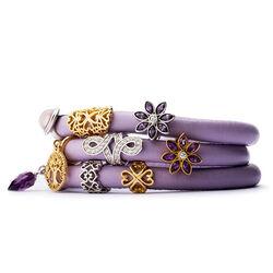 Endless Lavendel Armband 3 Rijen
