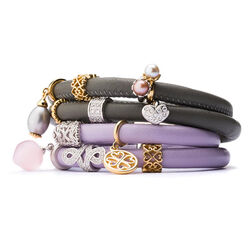 Endless Dubbele Armband Lavendel Verguld
