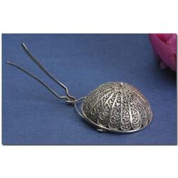 Zilveren tuitzeefje van filligrain draad
