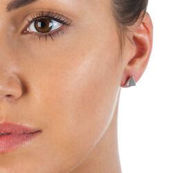 Zilver oorbellen driehoekig Silhouette Triangle Hot Diamonds