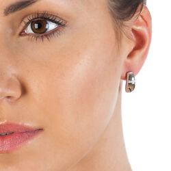 Zilver oorstekers diamantje Belle DE438 Hot Diamonds