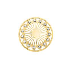 MY iMenso Zilver Cover Verguld bead met zirkonia 33-1233