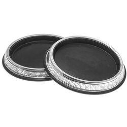 Stel Houten Flessenbakken Zilver Montuur