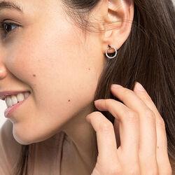 Ronde oorbellen met zirkonia van Esprit