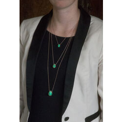 Tf9 Green eye large Tatiana Faberge collier met ei