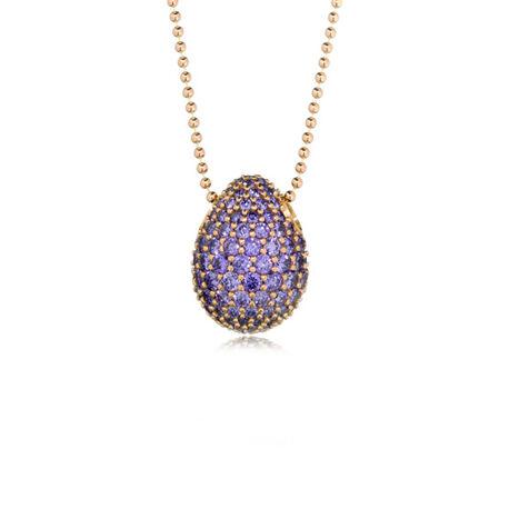 TF9 purple plum eye large Faberge