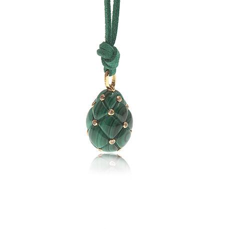 Malachiet Fabergé ei met goud