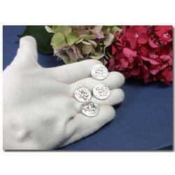 4  Zilveren knopen 18e eeuws