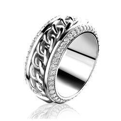 Zinzi Ring Met Draaiende Gourmetband Zir1239