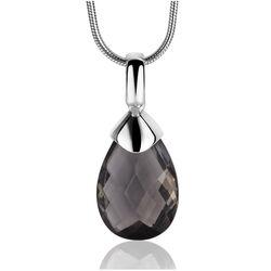 Zilver hanger druppel zwart zirkonia Zinzi