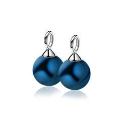 Zinzi creoolhangers Jeansblauwe crystal parels Zich266b