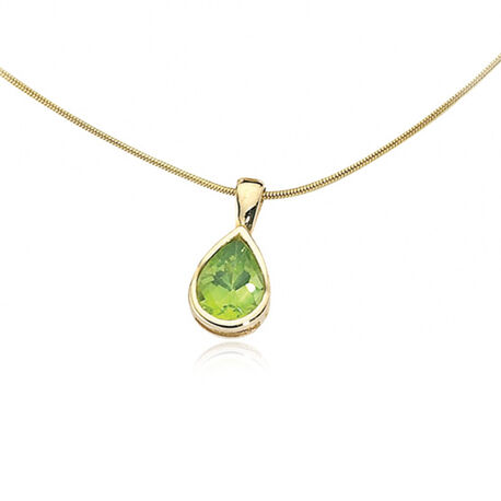 gouden hanger peridot Elements GP460g