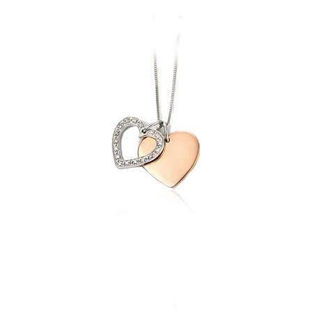 9 krt hangertje hart met diamant en graveer hartje van Elements GP973