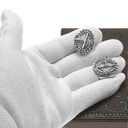 antiek zilveren kuitgespen
