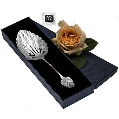 Zilveren Natfruitschep In Bladvorm