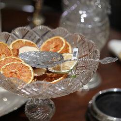 Zilver natfruitschep in bladvorm
