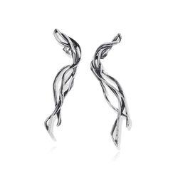 lange oorbellen zilver gras Garden Raspini