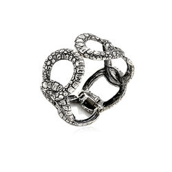 Zilveren klemarmband krokodil van Raspini