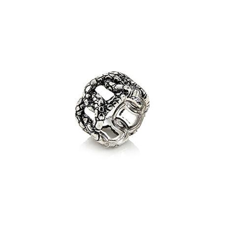 Zilveren ring krokodil van raspini