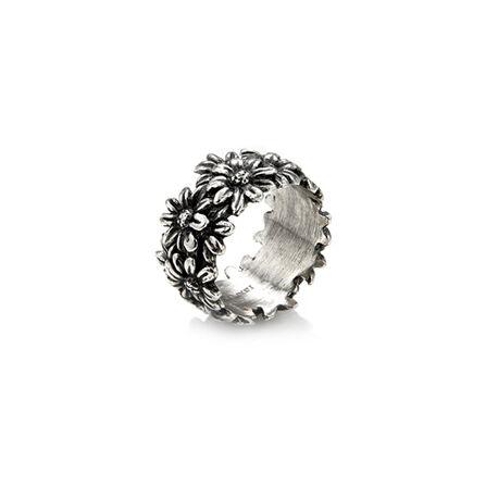 Zilver ring margrietjes van Raspini