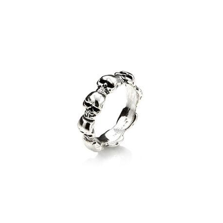 Zilver ring doodskoppen Raspini