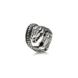 Zilveren ring krokodil raspini