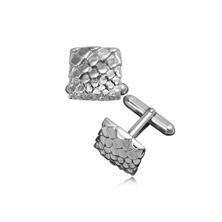 Zilver manchetknopen slang patroon Raspini