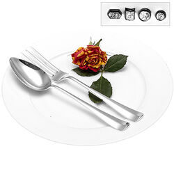 Zilveren ontbijtcouvert klein bestek Haags lofje