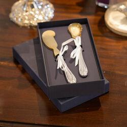 Kaviaar Set Hoorn Met Zilveren Heften Dubbelrondfilet