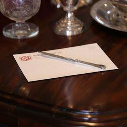 Briefopener met een zilveren heft
