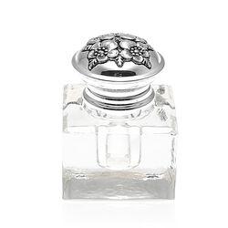 Inktpot Met Een Zilveren Dop Met Bloemmotief