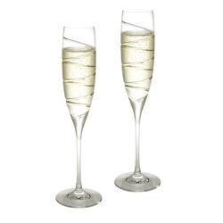 Stel kristallen champagneglazen Carrs