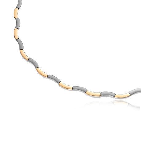 Boccia collier titanium bicolor