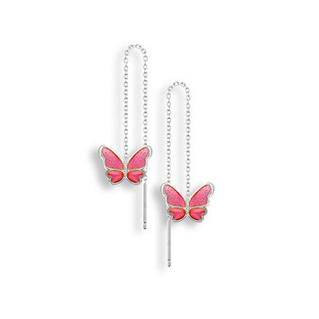 Nicole Barr Doortrekoorbellen Roze Vlinders
