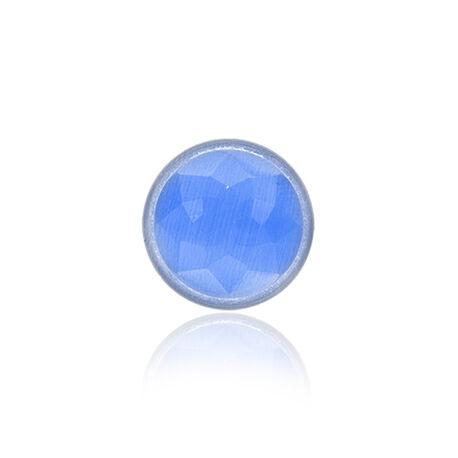 MY iMenso cat eye steen 14 mm blauw 14-1218